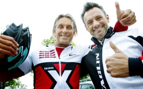 2016-05-14 Halmstad Hallandsloppet pcykel. Nick Sˆderblom och Patrik Clifford gamla barndomskamrater kˆr bÂda fˆr Team X-Racing, amatˆrteam pcykel. Foto:Bjˆrn Olsson