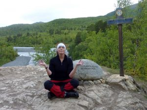 En av de sju meditationsplatserna längs Kungsleden, denna mellan Abisko och Abiskojaure.