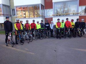 Första mötet med Kalmar CK, det såg ut som de kom från Lule hockey så det kändes lite som hemma på något sätt ändå.