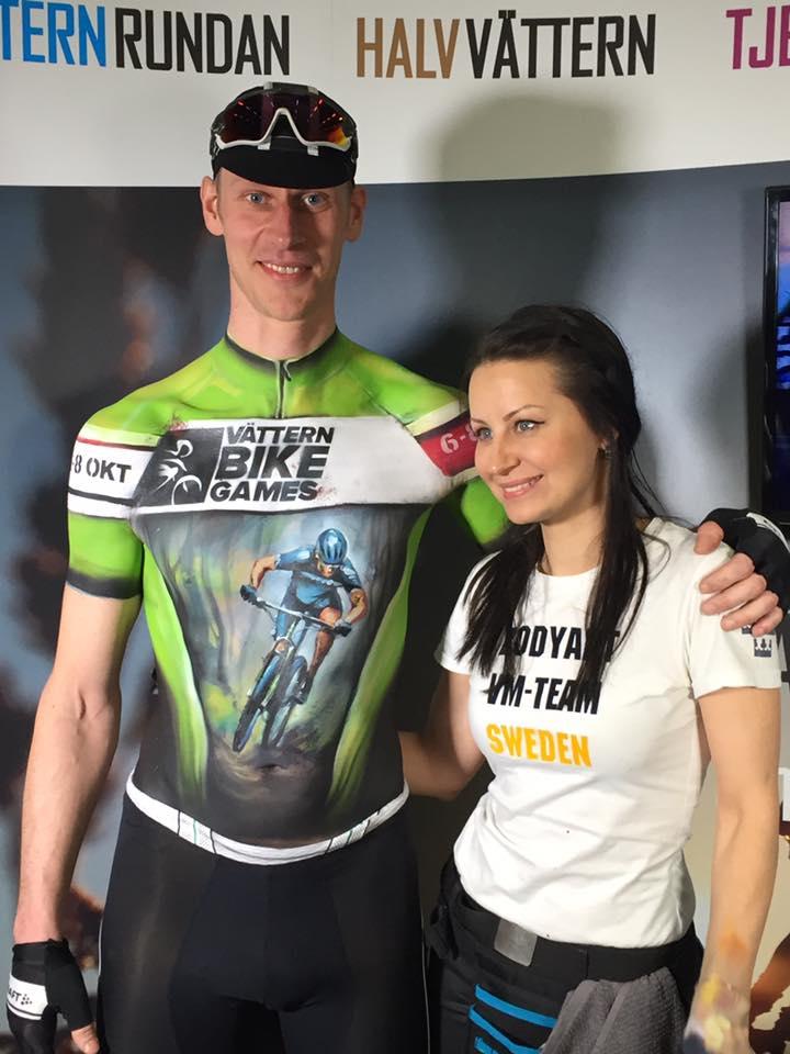 Jocke målad för VRs Bike Games!