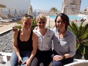 Tjejvättern- Annika, Vätternrundans marknadschef Ulrika och jag. Tack för en fin vecka tjejer!