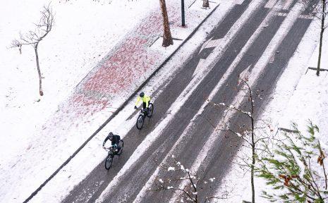 Vintercyklingens dag i Uppsala