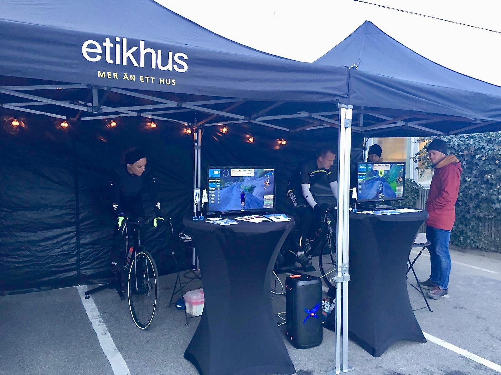 Cykeleventet där Anna Friborg och Etikhus gjorde en Everesting för Barndiabetesfonden.