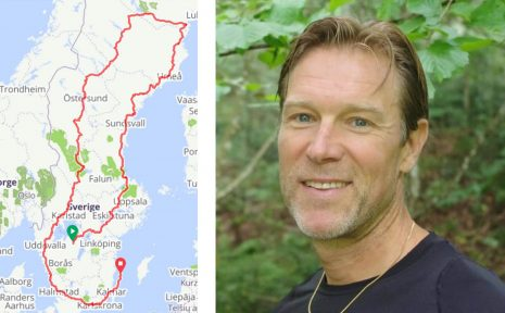 Stefan Wendt ska cykla genom Sveriges alla landskap. En cykeltur på 340 mil som ska ta 17 dagar.