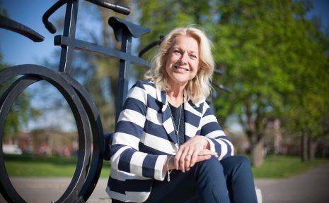 Gunilla Brynell-Johansson fick årets opinionspris från Svensk Cykling.