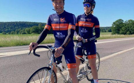 Claes och Magdalena cyklar Vätternrundan på tandemcykel