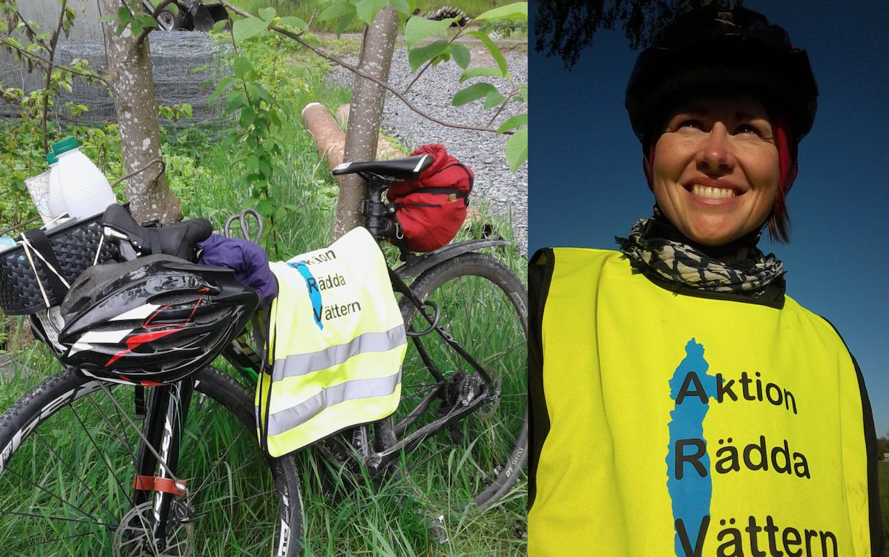 Ylva Thorsson vill rädda Vättern, genom att cykla. Under året ska hon trampa 300 mil och uppmärksamma vikten av att skydda sjön.