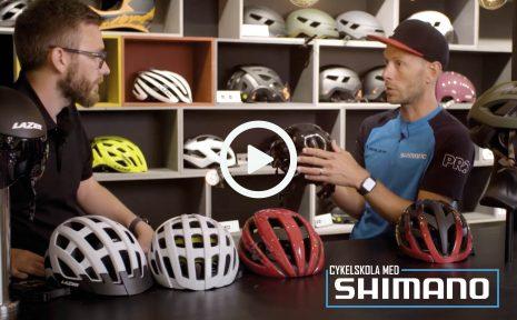 Cykelskola med Shimano – hjälmar