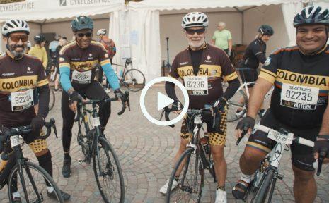 En colombiansk kvartett i Cykelveckan. Mauricio Arias gjorde debut i Halvvättern när han cyklade tillsammans med sina landsmän under söndagen.