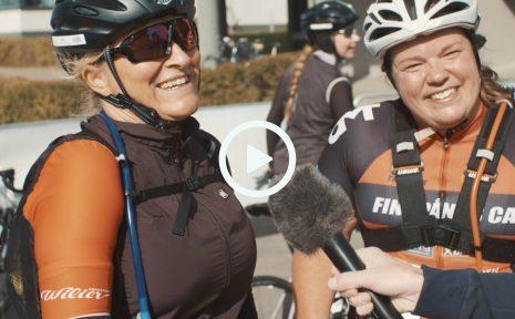 Anna Smith och Madeleine Ståhl startade Tjejvättern som en duo. Men längs vägen hittade de nya cykelkompisar, så i mål var de del av grupp om tio cyklister.