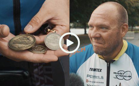 Tobias Igefors från Tranås är en av få som cyklade tre lopp på fyra dagar under Vätternrundanhelgen. Vilket blev en total distans på 335 kilometer.